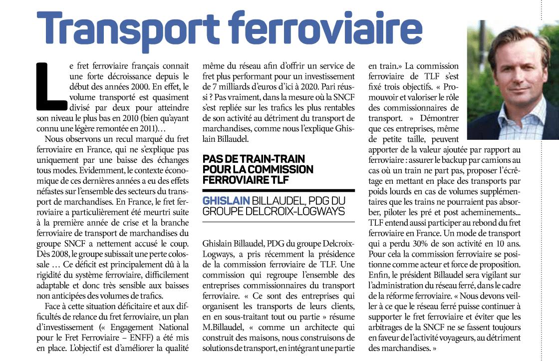 le fret ferroviaire par Ghislain Billaudel - Transport et Logistique - Mars 2015