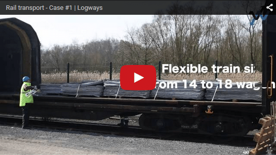 Rail transport, video of a Logways's solution